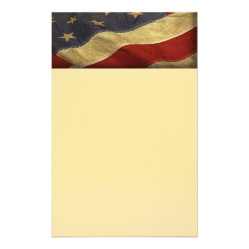 distressed american flag stationery