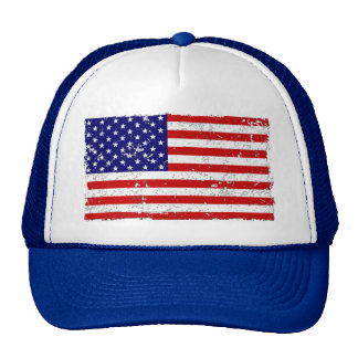 Distressed American Flag Trucker Hat