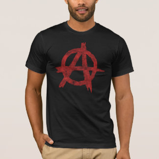 Distressed Anarchy Sign T-Shirt
