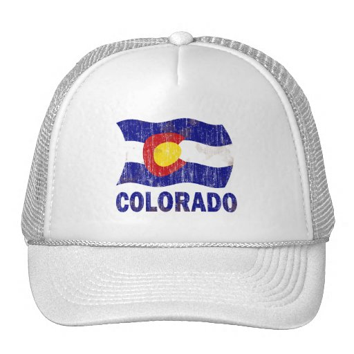 DISTRESSED AND AGED COLORADO FLAG HAT