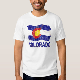 DISTRESSED AND AGED COLORADO FLAG TEE SHIRT