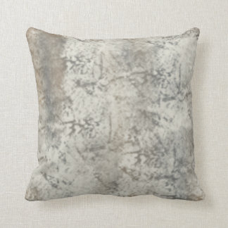 Distressed and Antiqued Gray Pattern Throw Pillow