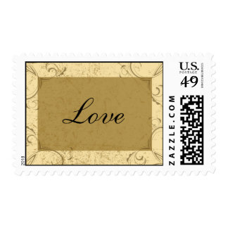 Distressed and Elegant Love Wedding Postage Stamp