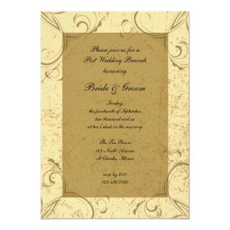 Distressed and Elegant Post Wedding Brunch Card