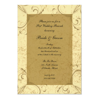 Distressed and Elegant Post Wedding Brunch Invite