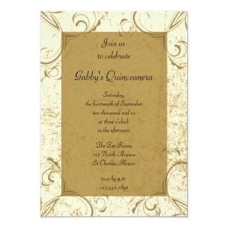 Distressed and Elegant Quinceanera Party Invite