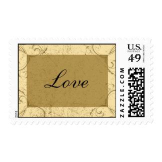 Distressed and Elegant Wedding Love Postage