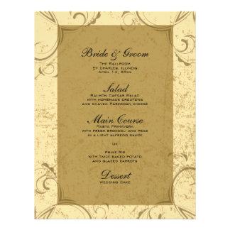Distressed and Elegant Wedding Menu