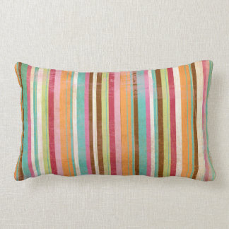 Distressed and worn out stripes throw pillows