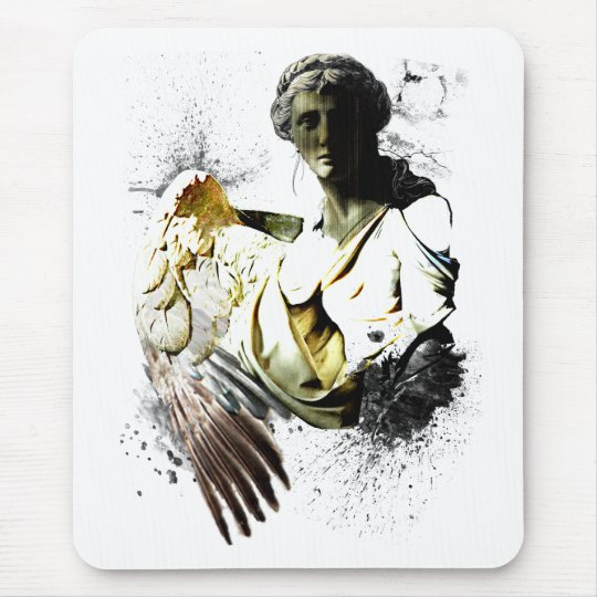 Distressed Angel Mouse Pad