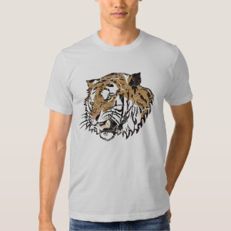 Distressed Angry Tiger T-shirt