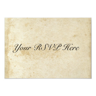 Distressed Antique Stained Paper RSVP Card