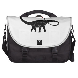 Distressed Apatosaurus Silhouette Commuter Bags