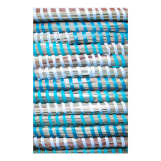 Distressed Aqua Blue Basket Weave Rope - Nautical Stationery