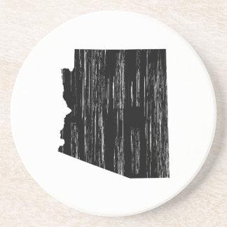 Distressed Arizona State Outline Drink Coaster