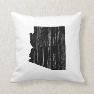 Distressed Arizona State Outline Pillows
