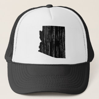 Distressed Arizona State Outline Trucker Hat