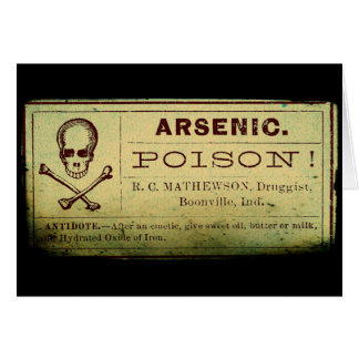 Distressed Arsenic Label Card