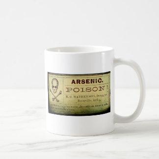Distressed Arsenic Label Coffee Mug