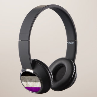 Distressed Asexual Pride Headphones