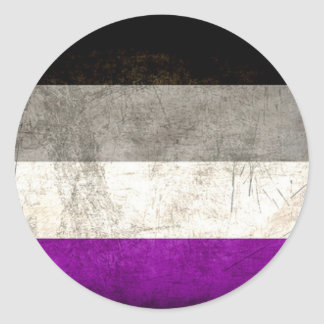 Distressed Asexual Pride Stickers