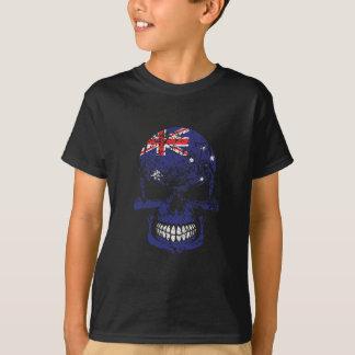 Distressed Australian Flag Skull T-Shirt