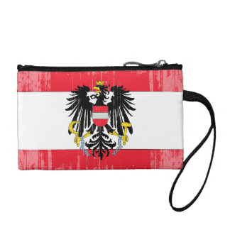 DISTRESSED AUSTRIA COAT OF ARMS FLAG .png Change Purse