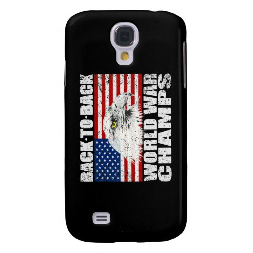 Distressed Back To Back World War Champs Galaxy S4 Cover