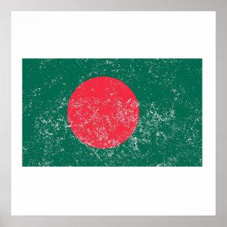 Distressed Bangladesh Flag Poster