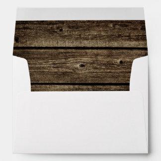 Distressed Barn Wood Rustic Envelope