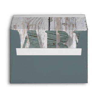 distressed barn wood western country farmhouse envelope