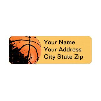 Distressed Basketball Address Labels