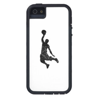 Distressed Basketball Dunk Silhouette iPhone 5 Covers