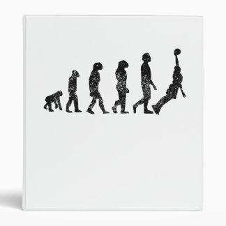 Distressed Basketball Evolution Vinyl Binder