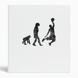 Distressed Basketball Evolution Vinyl Binders