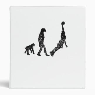 Distressed Basketball Evolution 3 Ring Binders