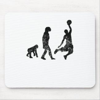 Distressed Basketball Evolution Mousepads