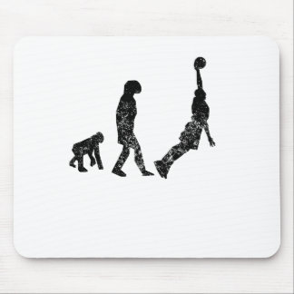 Distressed Basketball Evolution Mouse Pads