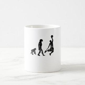 Distressed Basketball Evolution Coffee Mugs