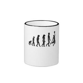 Distressed Basketball Evolution Coffee Mug