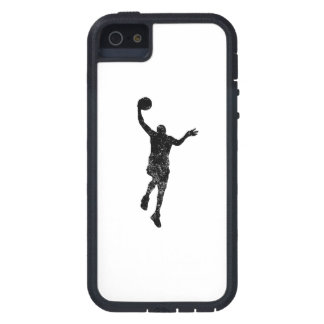 Distressed Basketball Layup Silhouette iPhone 5 Covers