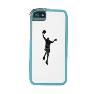 Distressed Basketball Layup Silhouette iPhone 5 Cases