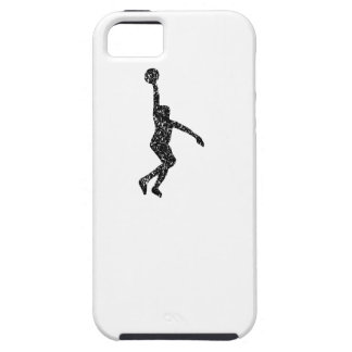 Distressed Basketball Layup Silhouette iPhone 5 Case