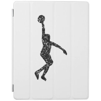 Distressed Basketball Layup Silhouette iPad Cover