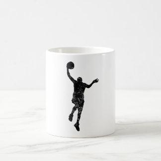 Distressed Basketball Layup Silhouette Coffee Mugs