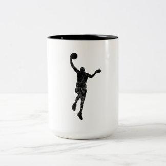 Distressed Basketball Layup Silhouette Mug