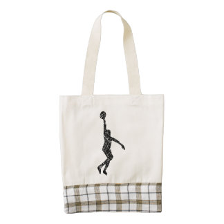 Distressed Basketball Layup Silhouette Zazzle HEART Tote Bag