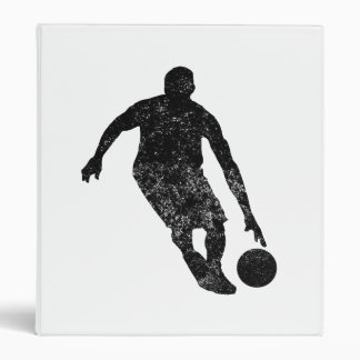 Distressed Basketball Player Silhouette Binder