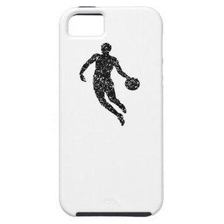 Distressed Basketball Player Silhouette iPhone 5 Case