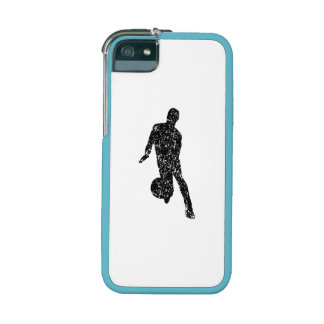 Distressed Basketball Player Silhouette iPhone 5/5S Covers